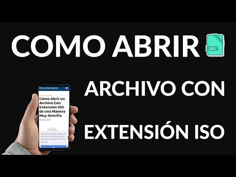 ¿Cómo Abrir un Archivo Con Extensión ISO?