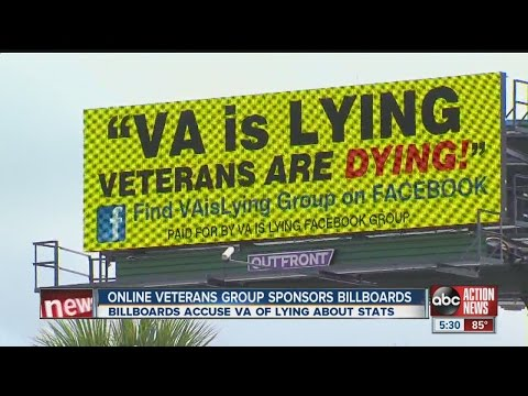 Billboard accusing VA of lying pops up in Tampa