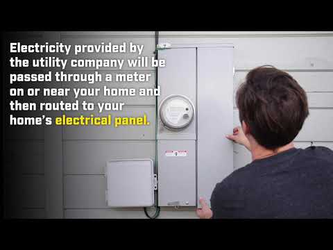 How to identify your home's electrical service size.