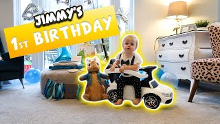 JIMMYs 1st Birthday | Day out | Party | Presents