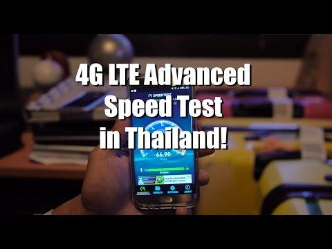 4G LTE Advanced Speed Test in Thailand!