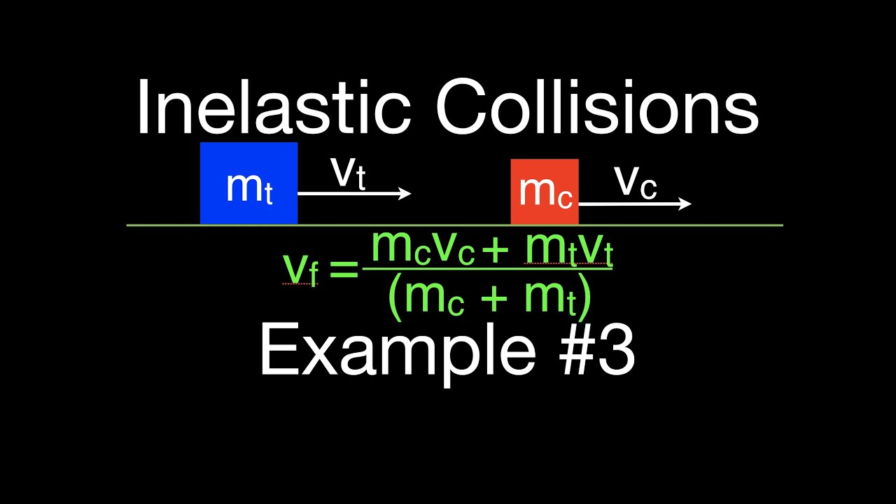 Momentum 8 Of 16 Inelastic Collisions Example 2 Youtube