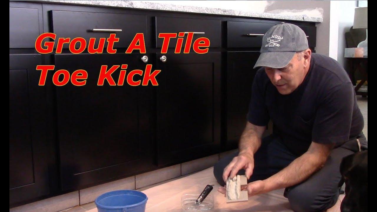how to tile a toe kick youtube