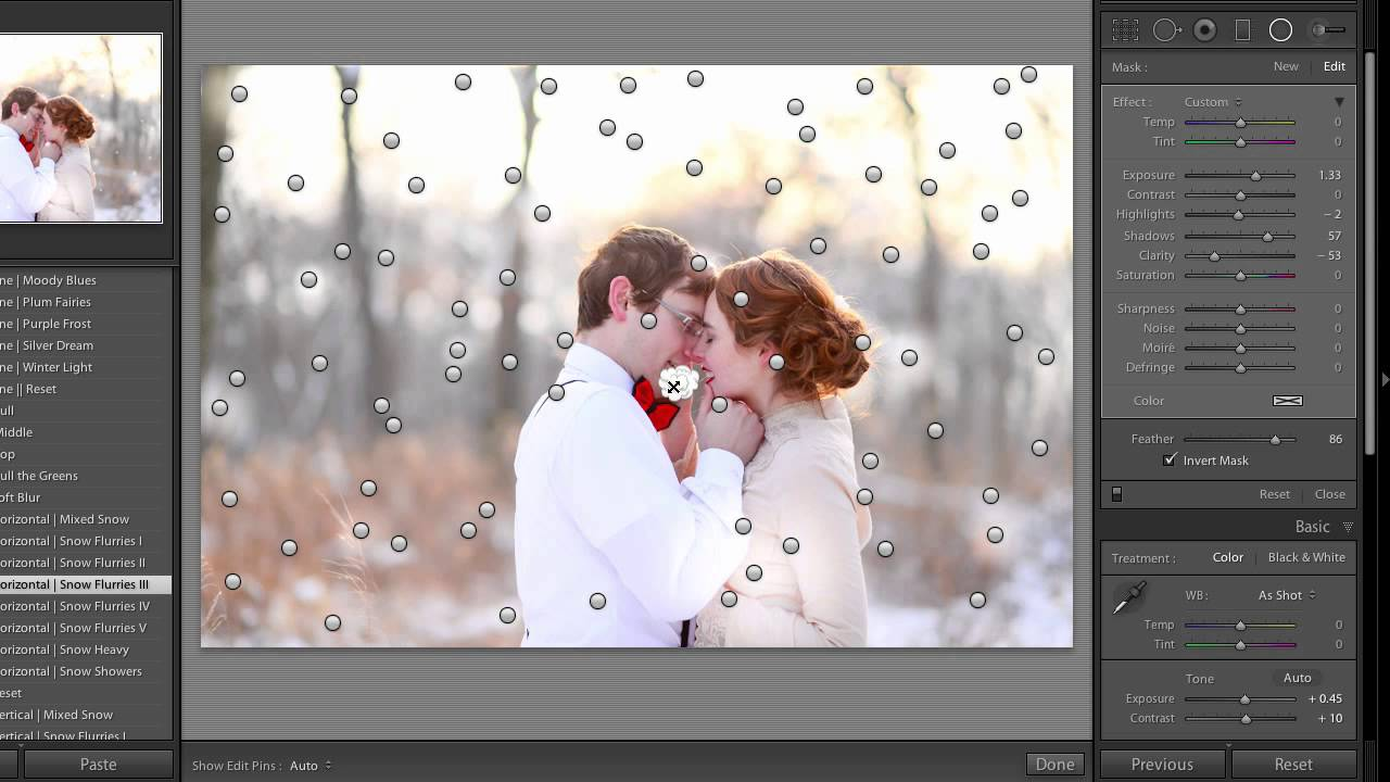 how to add snow in lightroom