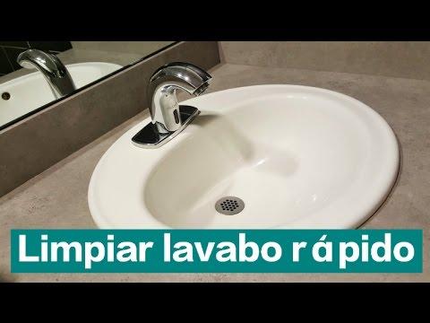 Cómo LIMPIAR el baño(lavabo) con BICARBONATO y VINAGRE fácil y rápido.