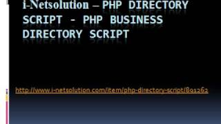 PHP Directory Script - PHP Business Directory Script