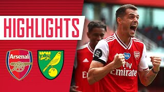 HIGHLIGHTS Arsenal 4 0 Norwich Premier League July 1 2020