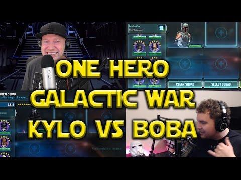 Star Wars: Galaxy Of Heroes - 1 Hero GW Zeta Kylo Ren VS Boba Fett