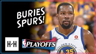 Kevin Durant Full Game 5 Highlights Warriors vs Spurs 2018 Playoffs - 25 Points, CLUTCH SHOT!