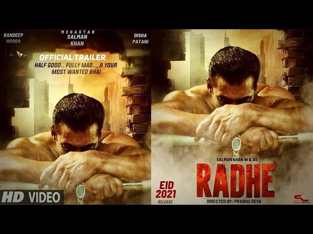 Radhe : Official Trailer | Salman Khan | Disha P | Jackie S | Randeep H |Prabhudeva |Concept Trailer