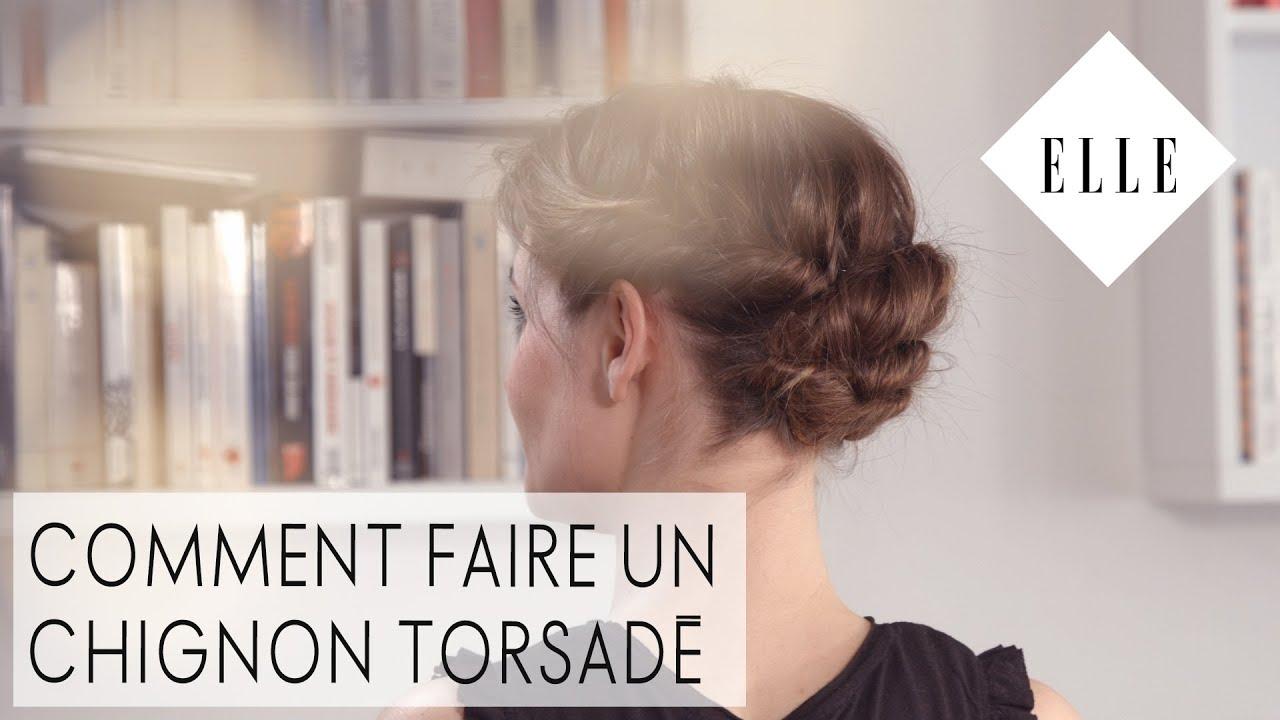 Connu Comment faire un chignon torsadé┃ELLE Coiffure - YouTube ZB53