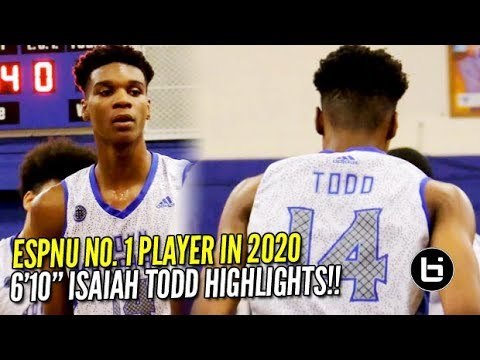 Could 2020 ESPN no .1 Isaiah Todd Be the Next DMV Product to the NBA?! Season Highlights!