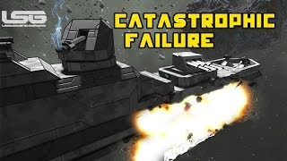 Space Engineers - Catastrophic Failure B Class Frigate,Torpedos Turrets & Problems  Part 28