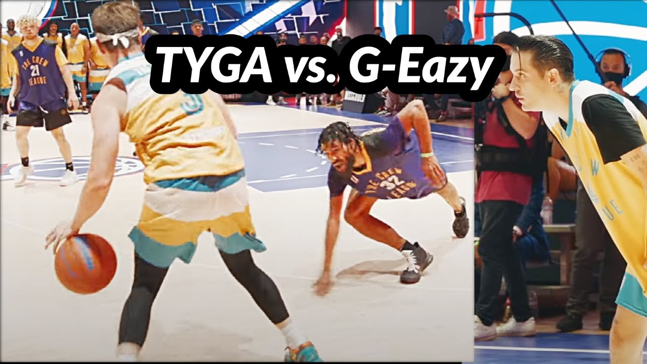 I CAUGHT FIRE in Tyga vs. G-Eazy Basketball Game!! (18 of 24 POINTS!!) feat. T Jass, Drake, & more!