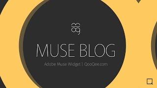 QooQee Muse Blog   Advanced Blog Widget for Adobe Muse