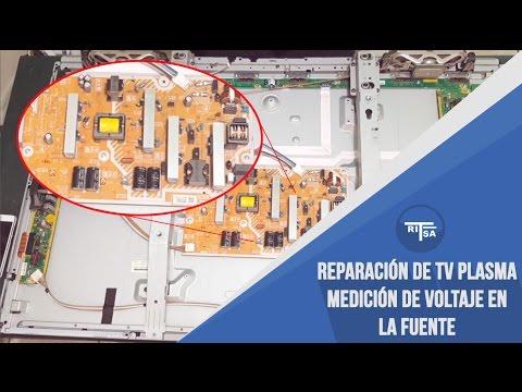 Reparación de TV plasma - Medición de voltaje de fuente interna