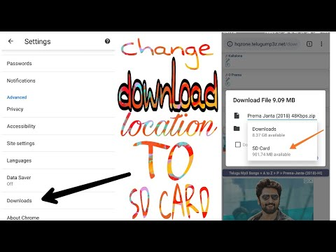 Change Download Location Of Chrome Android