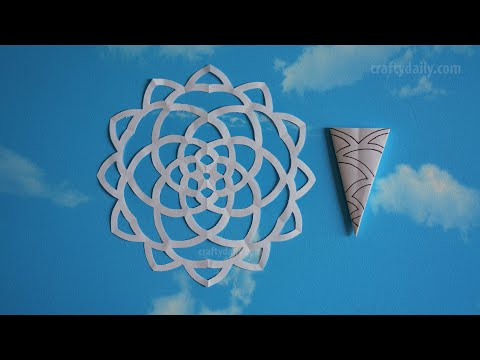 How To Make A Paper Snowflakes Step by Step Tutorial - Paper Snowflake #03
