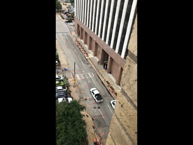 Raw video: Shooter attacks federal courthouse in Dallas