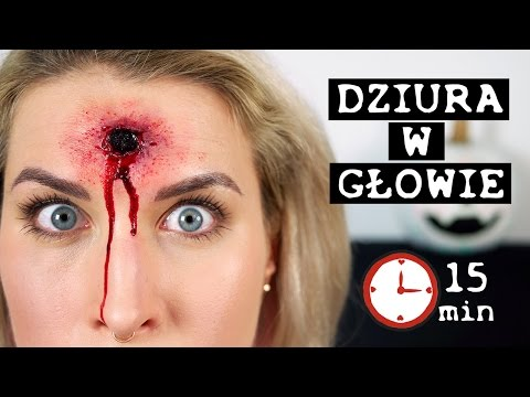 ♦ Sztuczna rana w 15 min - tutorial na Halloween ♦ Agnieszka Grzelak Beauty
