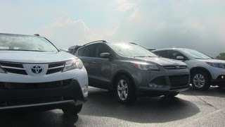 Ford Escape vs Toyota RAV4 vs Honda CR-V Autocross Matchup Review
