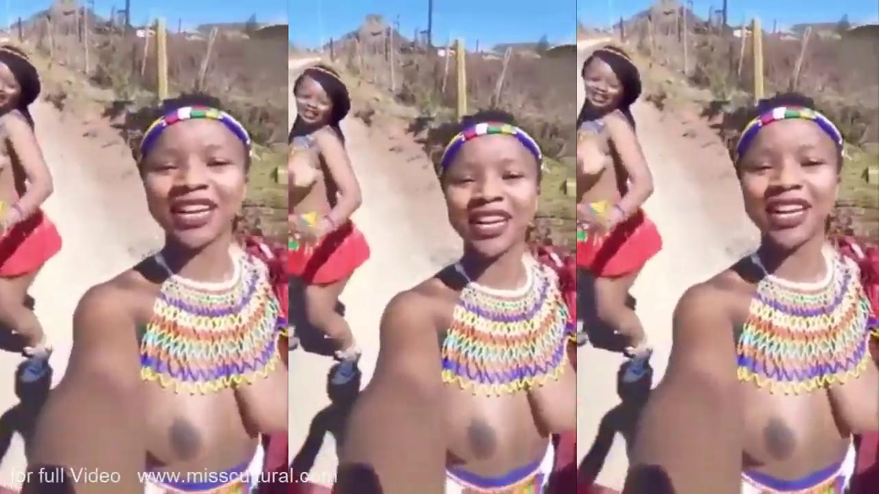 Zulu Reed Dance zeremonielle Teilnehmer, natal, Südafrika