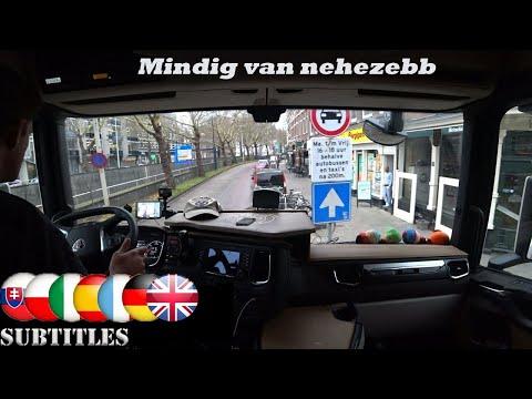A kamionos Rotterdam belvárosában A való világ