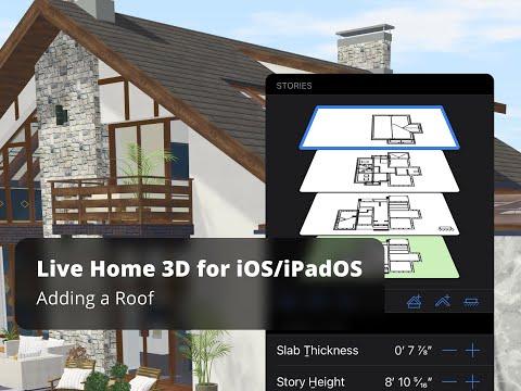 Live Home 3D for iOS / iPadOS Tutorials - Adding a Roof