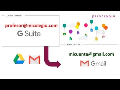 Cómo traspasar mi información de Gsuite a Gmail
