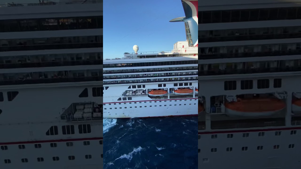 Carnival Glory CRASHED into Carnival Legend and then ...
