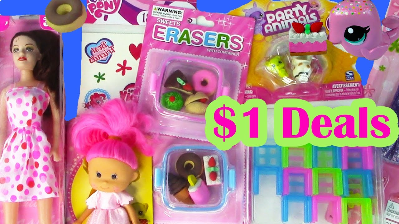 My Little Pony Toy Food : Dollar tree toy haul barbie doll kawaii food erasers
