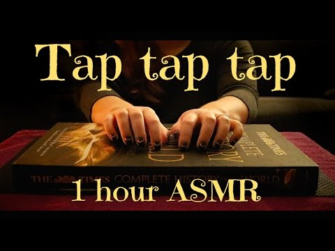 ASMR One Hour Random Tapping with my Nails on a History Book - No talking | ASMR Relaxation ♥