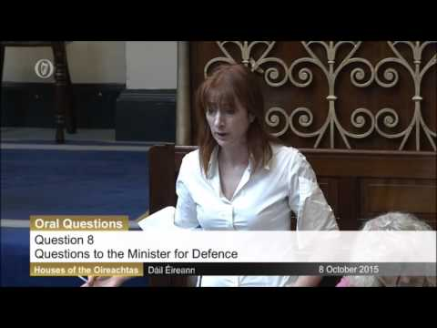 Clare Daly Questions Minister For Defence About Leaked Emails