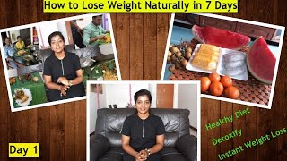 GM Diet Day 1 in Tamil - How to Lose Weight fast #MyWeightLossJourney #Detoxify #HealthyDiet