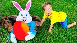 Senya and Easter Bunny Bad Behavior