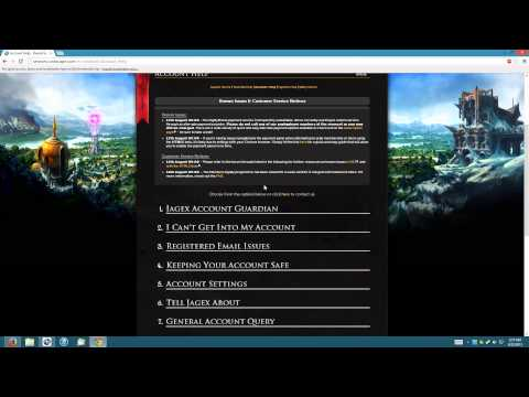 RuneScape 3 Recover a hacked account or lost email