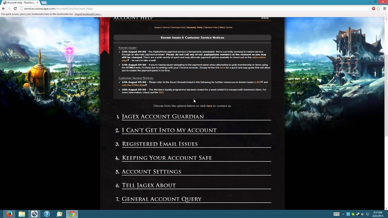 Runescape 2012 RuneScape 3 Recover a ...
