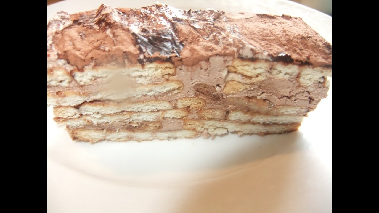 Quick easy chocolate biscuit cake recipe