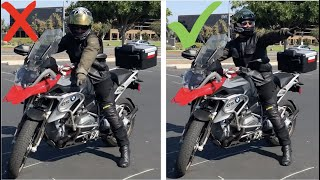 How To Do A Sharp Turn From A Stop | Both Directions ~ MotoJitsu