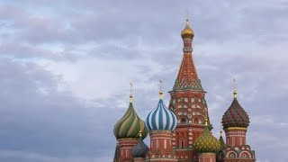 Saint Basil Cathedral and Clouds in Moscow, Russia | Stock Footage - Videohive