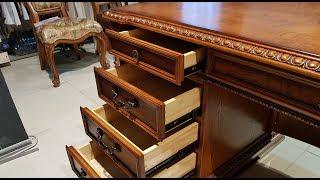"""Видео обзор: Классический письменный стол """"Монтана"""", массив дерева"""
