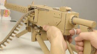 How to Make Cardboard M1919 Machine Gun That Shoots