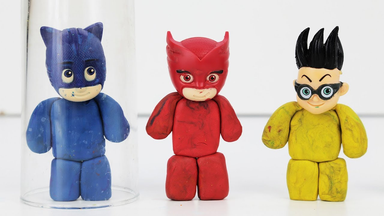 PJ Masks Playing Spinner And Funny Plasticine Body Learning Colors