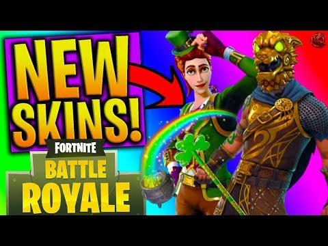 NEW SKINS in FORTNITE! - ROCKSTAR, LEPRECHAUN, KNIGHT & MORE! (Fortnite: Battle Royale NEW DLC)