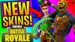 NEW SKINS in FORTNITE! - ROCKSTAR, LEPRECHAUN, KNIGHT & MORE! (Fortnite: Battle Royale NEW DLC)