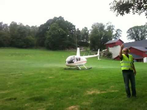 Helikopter på Halsnøy