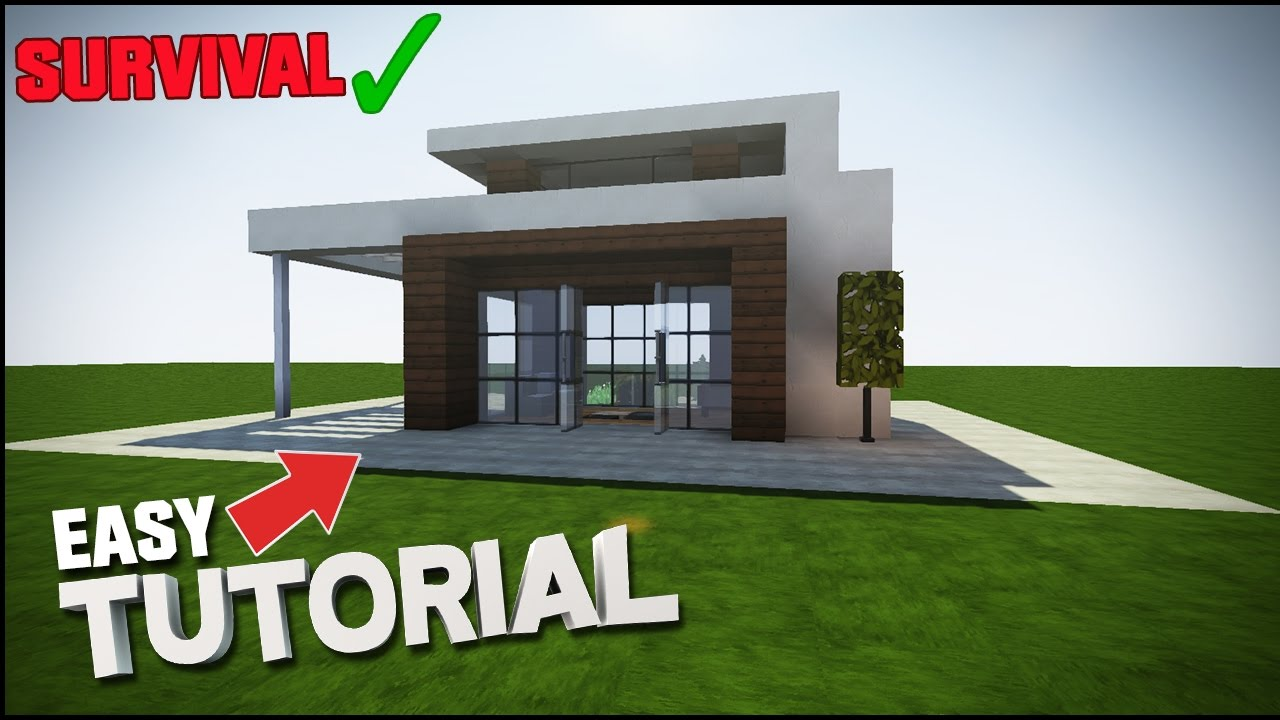 Minecraft House Tutorial Simple Easy Modern House Best House Tutorial Youtube