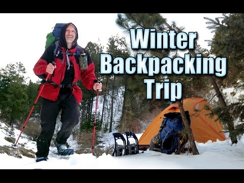 Winter Backpacking and Snowshoeing the 76 and Iron Creek Tra