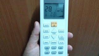 วิธีตั้งเวลาเปิด ปิด แอร์พานาโซนิค   ตั้งเวลาปิดแอร์  How to set timer Panasonic Air Conditioner Video
