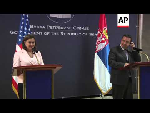 US diplomat for European affairs meets Serbian foreign minister; news conference